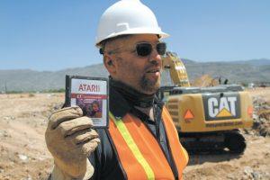 משחק אי.טי של אטארי, שנמצא קבור בניו מקסיקו // צילום: אי.פי